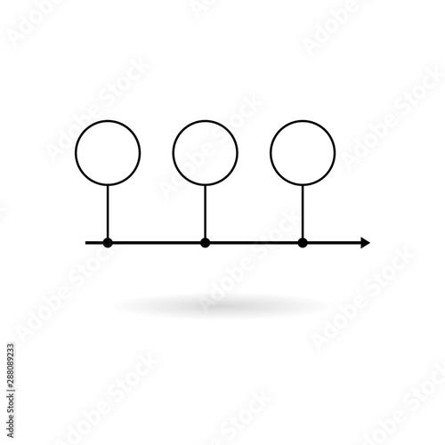 Valokuva  Timeline icon flat illustration for graphic and web design isolated on white bac