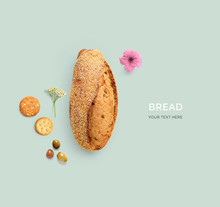 Creative Layout Made Of Bread ...