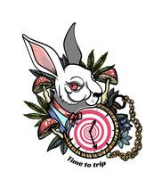 Rabbit From Alice In Wonderland, Tattoo
