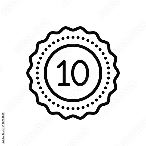 Tablou Canvas Black line icon for decade