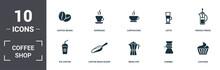Coffe Shop Set Icons Collectio...