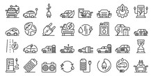 Hybrid Icons Set. Outline Set ...