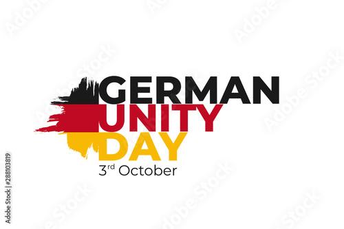 Fototapeta German Unity day - Tag der Deutschen Einheit, national Germany holiday greeting card, banner, poster template