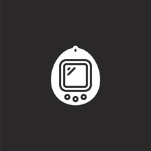 Tamagotchi Icon. Filled Tamagotchi Icon For Website Design And Mobile, App Development. Tamagotchi Icon From Filled Pop Culture Collection Isolated On Black Background.