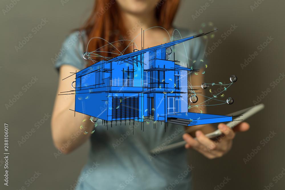 Fototapeta Smart home and future concept