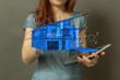 canvas print picture - Smart home and future concept