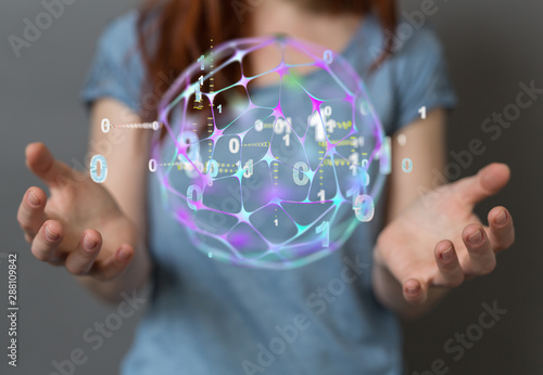 connected symbols for digital, interactive and global communication concept - 288109842
