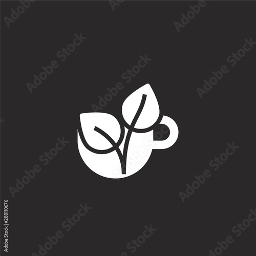 tea icon filled tea icon for website design and mobile app development tea icon from filled alternative medicine collection isolated on black background buy this stock vector and explore similar vectors adobe stock