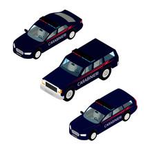 Carabinieri Police Cars Isolat...