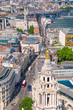 City of London view at sunny summer day. View includes west part of the City
