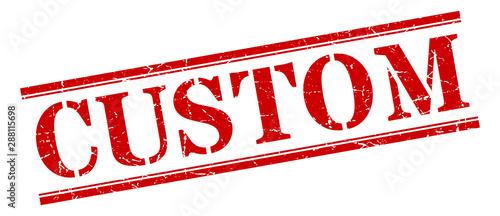 Cuadros en Lienzo  custom stamp. custom square grunge sign. custom