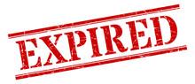 Expired Stamp. Expired Square Grunge Sign. Expired