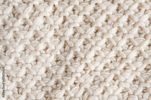 Obraz knitted wool fabric texture background - fototapety do salonu