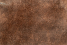 Brown Genuine Leather Texture Background, Surface