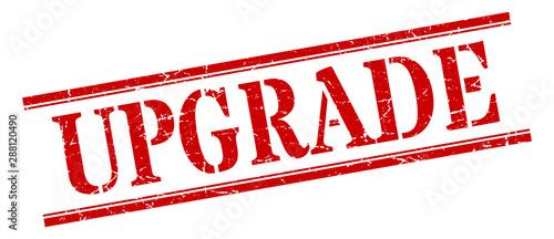Fotografía  upgrade stamp. upgrade square grunge sign. upgrade