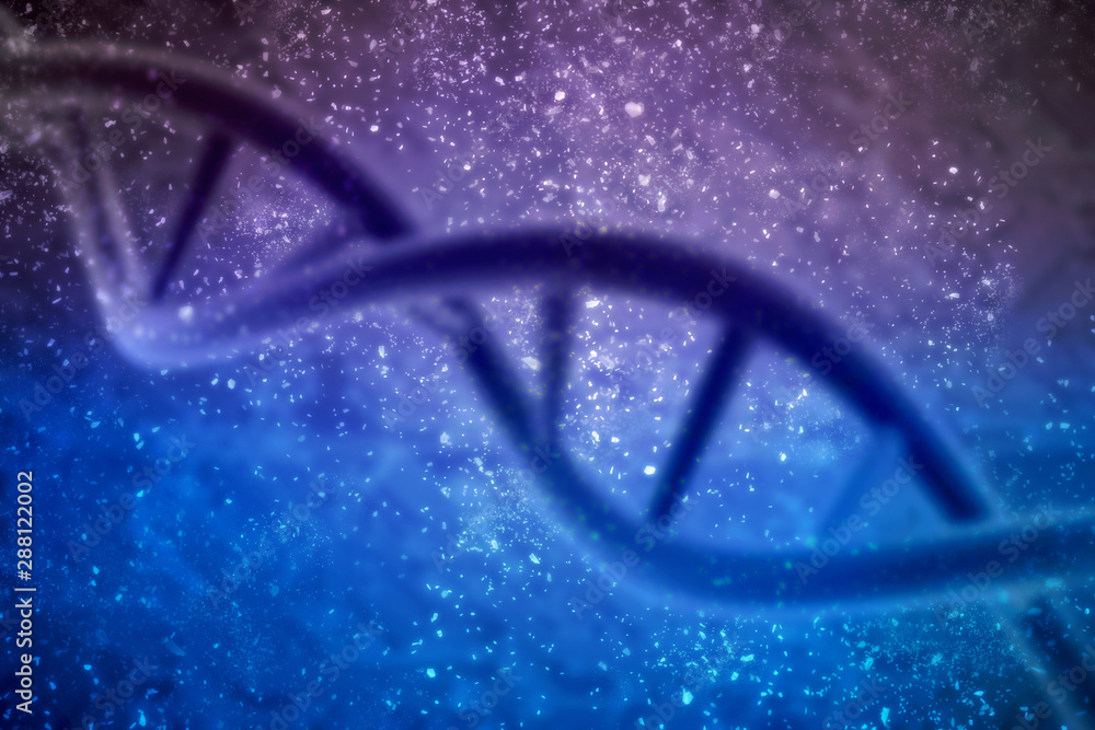 Fototapety, obrazy: 3d render of dna structure, abstract background