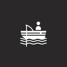 Fisher Icon. Filled Fisher Ico...
