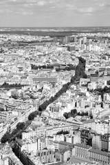 Fototapeta Paryż Paris, France. Black and white retro style.