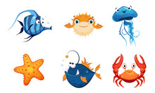Cute Friendly Sea Creatures Se...