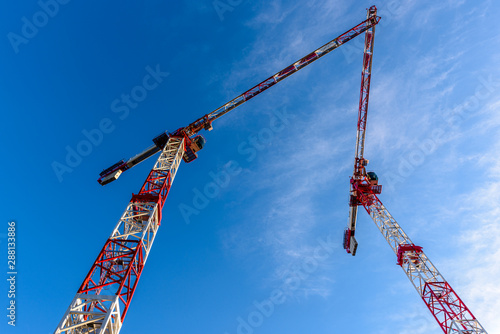 Gru di cantiere costruzione edilizia Canvas Print