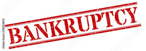 Fotografía bankruptcy stamp. bankruptcy square grunge sign. bankruptcy