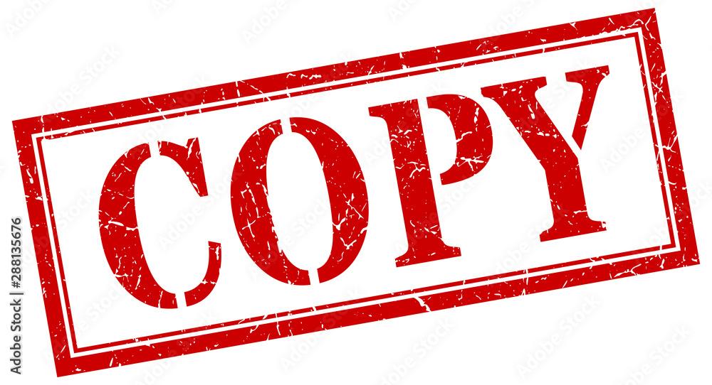 Fototapeta copy stamp. copy square grunge sign. copy