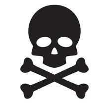 Skull And Crossbones Icon On W...
