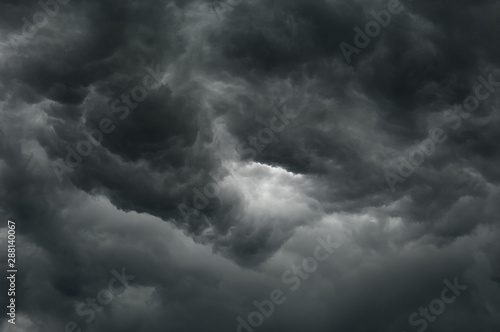 Fototapety, obrazy: dark thunderclouds