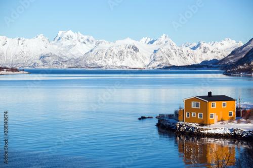 traditional norwegian wooden house