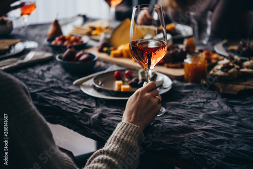 Canvas Prints Alcohol Dinner party
