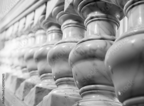 Papel de parede White marble balusters. Abstract photo
