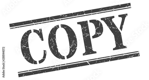 Foto copy stamp. copy square grunge sign. copy