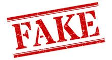 Fake Stamp. Fake Square Grunge Sign. Fake