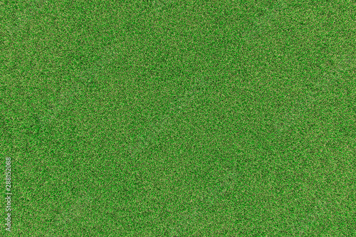 Foto auf AluDibond Gras Background illustration of green field of grass with flowers. 3D rendering. Useful for commercial banners and print