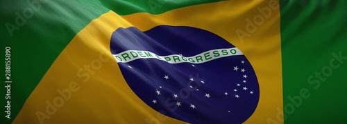 Photo sur Aluminium Amérique du Sud Official flag of Brazil. Brazilian web banner.