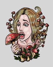 The Girl Is Eating Fly Agarics, Psy Art
