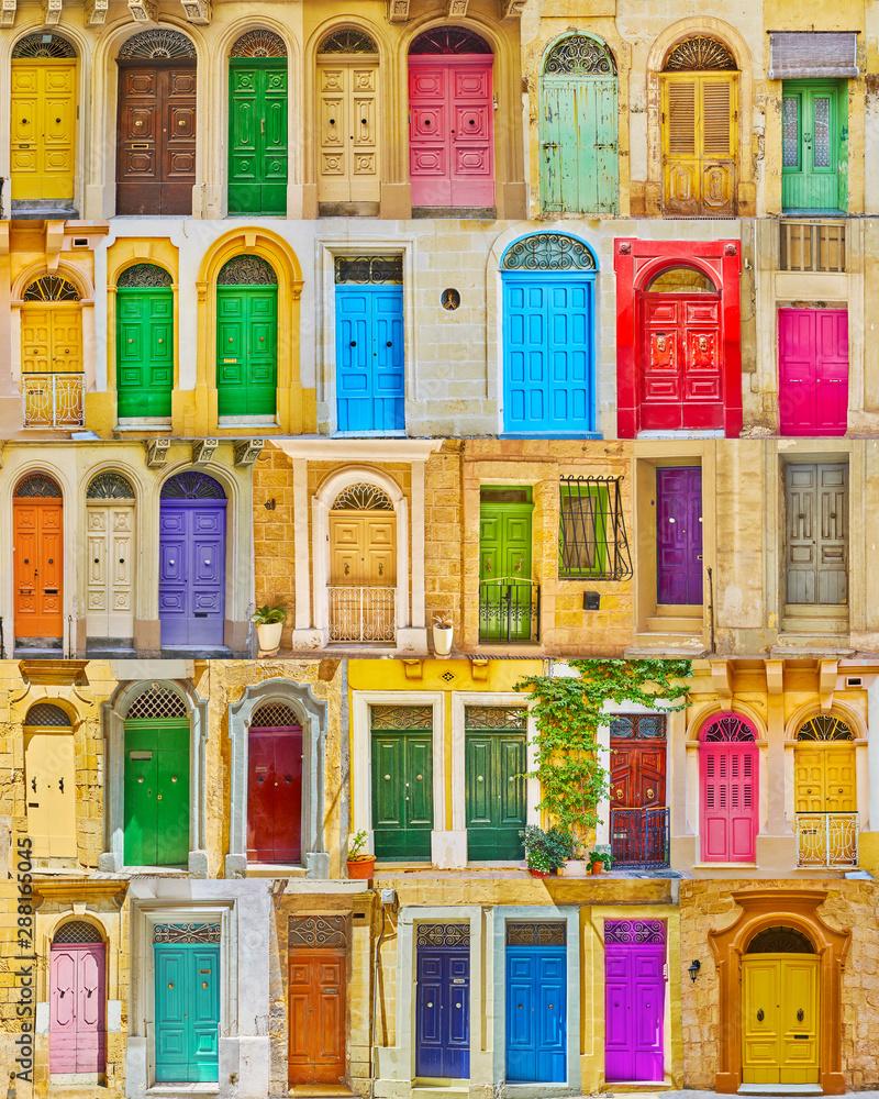 Fototapety, obrazy: Retro wooden Maltese doors