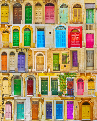 Retro wooden Maltese doors - 288165045