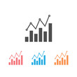 Analytics icon set design template vector isolated