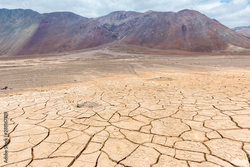 Dry cracked earth, Atacama, Chile