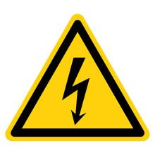 Danger High Voltage Symbol Sig...