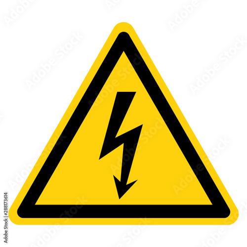 Fototapeta Danger High Voltage Symbol Sign, Vector Illustration, Isolate On White Background Label