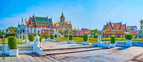Fototapeta Wat Ratchanatdaram complex in Bangkok, Thailand obraz