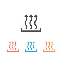 Heat Icon Set Three Arrow Up Concept.