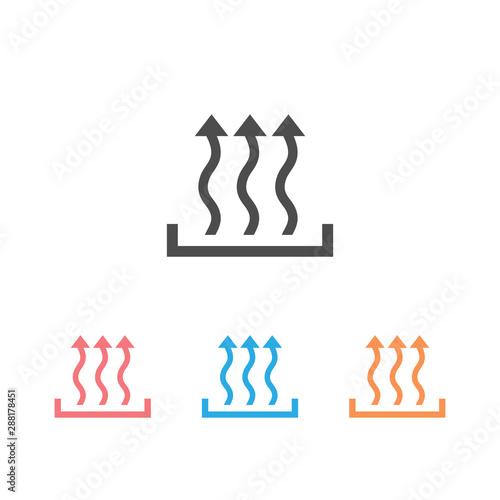 Heat icon set three arrow up concept. Fototapeta