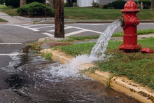 Opened Fire Hydrant Later Leak Spray