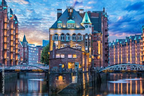Foto auf AluDibond Nordeuropa Speicherstadt in Hamburg