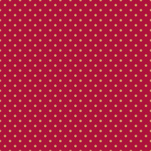 Luxury Shiny Golden Polka Dots Seamless Pattern On Red Background