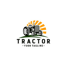 Tractor Farm Logo Template Stock Vector