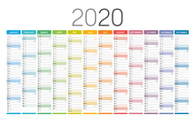 Year 2020 Calendar